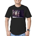 The Unemployment Line Men's Fitted T-Shirt (dark)
