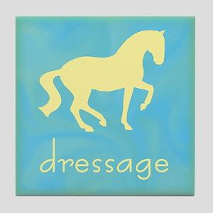 -piaffe- dressage horse Tile Coaster