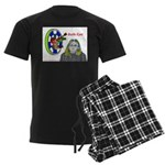 Bad Boss Bull's Eye Men's Dark Pajamas