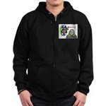 Bad Boss Bull's Eye Zip Hoodie (dark)