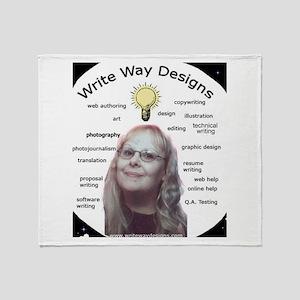Owner - Write Way Designs Throw Blanket