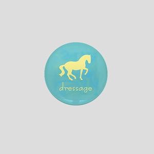 -piaffe- dressage horse Mini Button