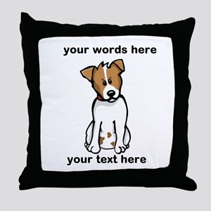Jack Russell - Custom Throw Pillow