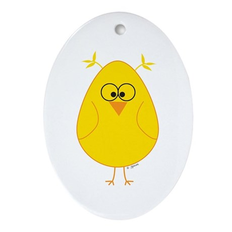 Geek Chick Oval Ornament