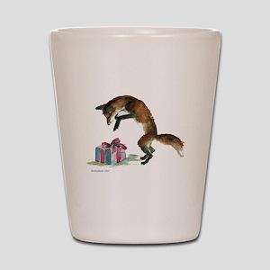 Fox and Present Shot Glass