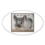 Chinchilla Coat Sticker (Oval 50 pk)