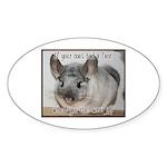 Chinchilla Coat Sticker (Oval 10 pk)