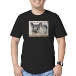 Chinchilla Coat Men's Fitted T-Shirt (dark)