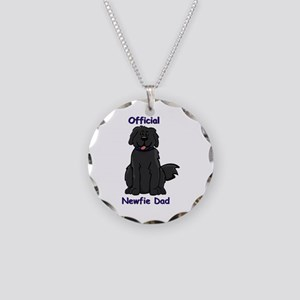 Newfie Dad Necklace Circle Charm