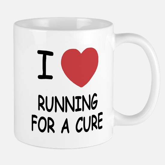 I heart running for a cure Mug