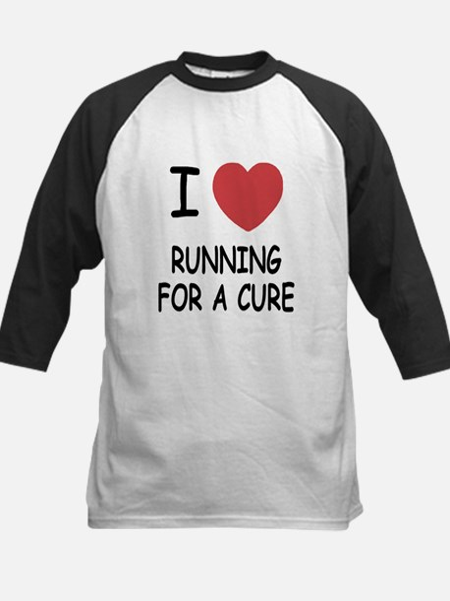 I heart running for a cure Kids Baseball Jersey