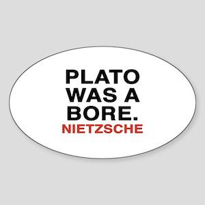 nietzsche quotes Sticker (Oval)