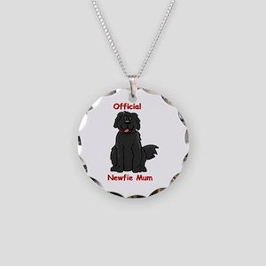 Newfie Mum Necklace Circle Charm