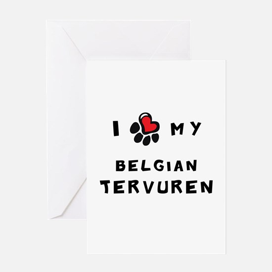 I *heart* My Belgian Tervuren Greeting Card