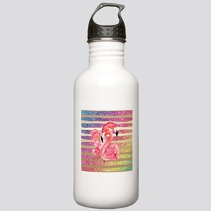 Watercolor FlamingosFa Stainless Water Bottle 1.0L