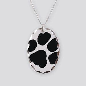 Pawprint Necklace Oval Charm