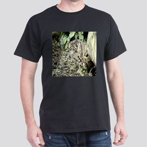 Clouded Leopard series 1 Black T-Shirt