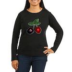 Cherries Women's Long Sleeve Dark T-Shirt