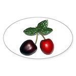 Cherries Sticker (Oval 10 pk)