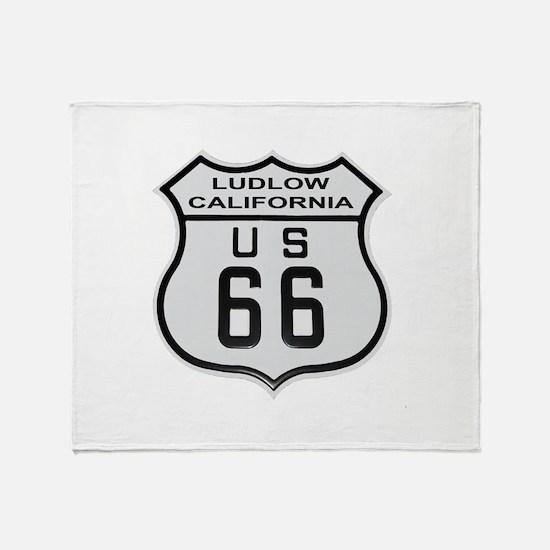 Ludlow Route 66 Throw Blanket