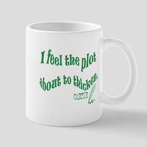 Rick Castle - Plot Thickens Quote Mug