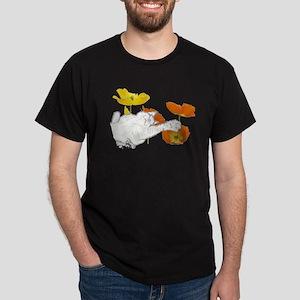 Checkers in Poppies Dark T-Shirt
