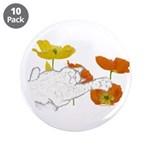 "Checkers in Poppies 3.5"" Button (10 pack)"