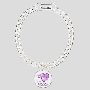 Line Dancing Passion Charm Bracelet, One Charm