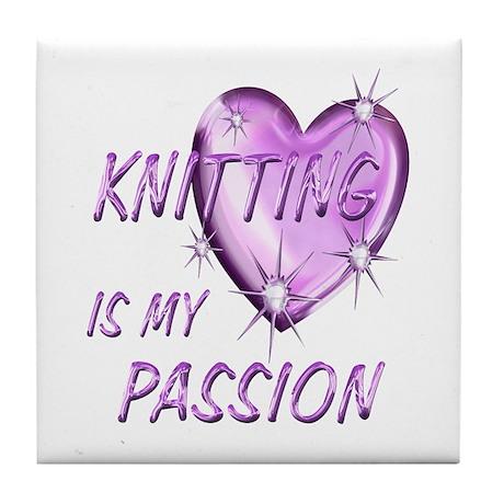 Knitting Passion Tile Coaster