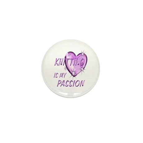 Knitting Passion Mini Button (100 pack)