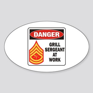 Grill Sgt. Sticker (Oval)