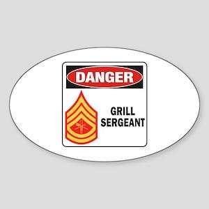 Grill Sgt. Sticker (Oval)