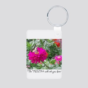 Lily of the Valley Aluminum Photo Keychain