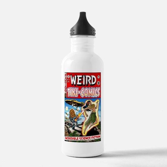 """""""Weird Tiki Comics # 1"""" Water Bottle"""