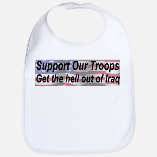 Support Our Troops Bumper Bib