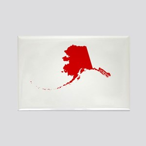 Alaska - Red Rectangle Magnet