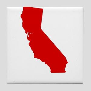 California - Red Tile Coaster