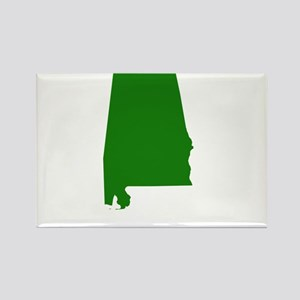 Alabama - Green Rectangle Magnet