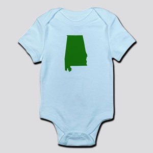 Alabama - Green Infant Bodysuit