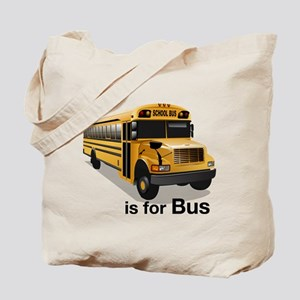 B is for Bus: School Bus Tote Bag