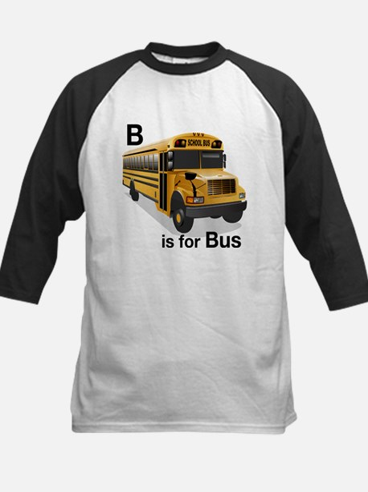 B is for Bus: School Bus Kids Baseball Jersey