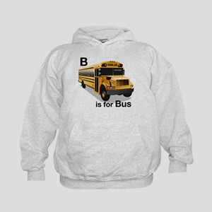 B is for Bus: School Bus Kids Hoodie