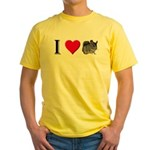 I Love Chinchillas Yellow T-Shirt