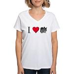 I Love Chinchillas Women's V-Neck T-Shirt