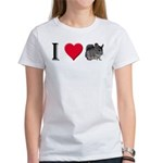 I Love Chinchillas Women's T-Shirt