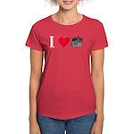 I Love Chinchillas Women's Dark T-Shirt