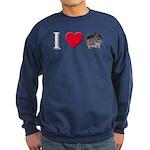 I Love Chinchillas Sweatshirt (dark)