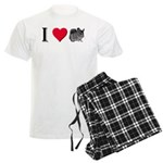 I Love Chinchillas Men's Light Pajamas
