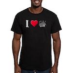 I Love Chinchillas Men's Fitted T-Shirt (dark)