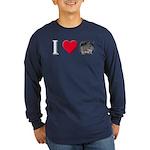 I Love Chinchillas Long Sleeve Dark T-Shirt